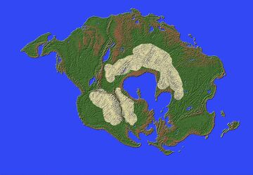 Pangaea Proxima 200 MYAf Minecraft Map & Project