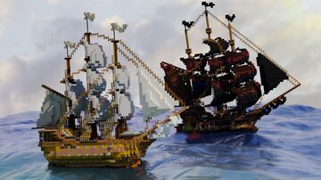Pirate Ship attack Minecraft Map & Project