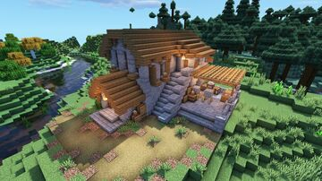 Medieval Survival Village Stone Mason House Minecraft Map & Project