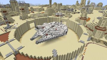 Star Wars - Millenium Falcon (with interior) Minecraft Map & Project