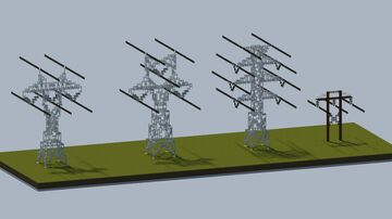 Dreamy's pack of transmission towers V2.0 [With download] Minecraft Map & Project