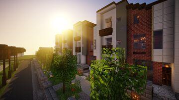 Three-storey modern townhouse. Minecraft Map & Project