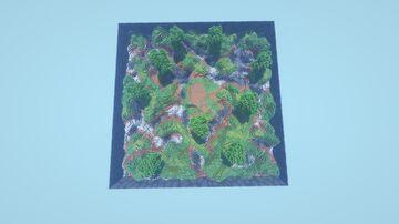 Square Hub Minecraft Map & Project