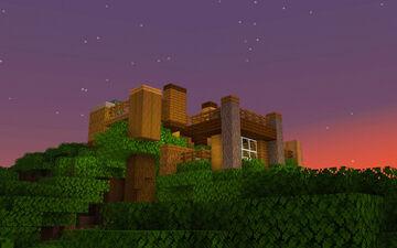 Dark Oak Treehouse [Small Modern Build] Minecraft Map & Project
