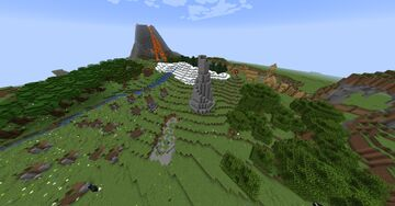hillside villige themed map Minecraft Map & Project