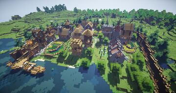 Transforming a village Minecraft Map & Project
