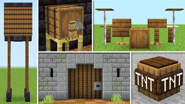 10+ Barrel Build Hacks and Decoration! Minecraft Map & Project