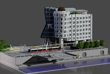 Dancing house | Modern Prague Townhouse Minecraft Map & Project