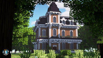 Springfield House, Second Empire Victorian Mansion Minecraft Map & Project