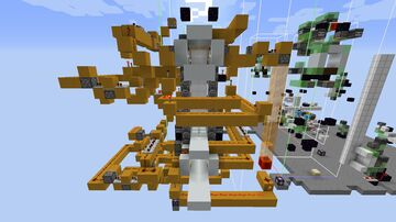 Realistic Elevator (2x2x2 cabin + piston door next to the cabin) Minecraft Map & Project