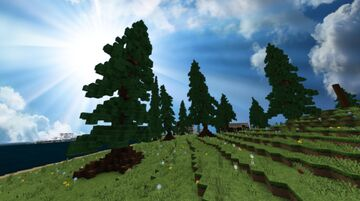 minecraft custom pine trees - Nature map Minecraft Map & Project