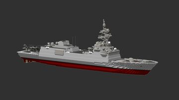 Us Navy - Frigate ship (Final design FFG X ) Minecraft Map & Project