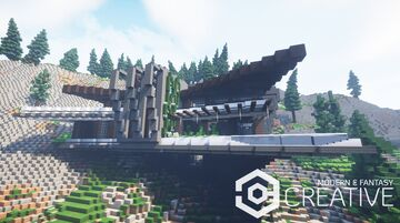 Modern cliffside villa 2 | with interiors + download | MFC | Minecraft Map & Project