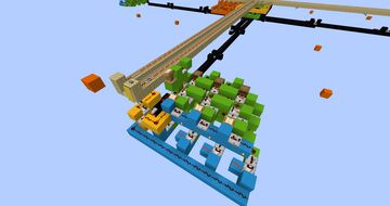 Fully automatic railway system - max. 16 stations, modular, lag-friendly, compact Minecraft Map & Project
