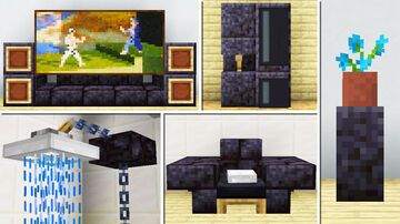 20 Blackstone furniture Designs and Decorations! Minecraft Map & Project