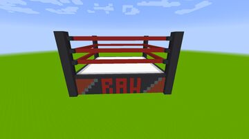 WWE Wrestling Ring Block City V1 Minecraft Map & Project