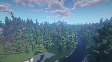 River among the hills Minecraft Map & Project