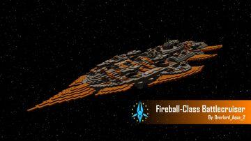 Fireball-Class Battlecruiser Minecraft Map & Project