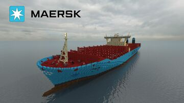 Majestic Maersk [Scale 1:1] Minecraft Map & Project