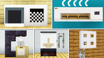 10 House Appliances Build Hacks and Designs Minecraft Map & Project