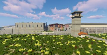 the walking dead's prison (schematic) Minecraft Map & Project