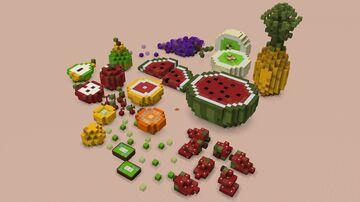 Simple Fruit -  3D Pixel Art Minecraft Map & Project