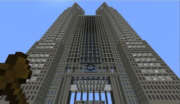 Tokyo Metropolitan Government Building Minecraft Map & Project