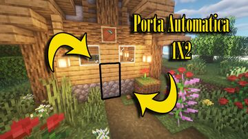 ✔Tutorial - Porta Automática 1x2 fácil e compacta - Minecraft - Sunny Ensina Minecraft Map & Project