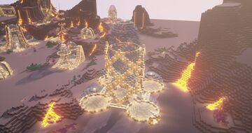 EPIC Ultra Futuristic Base - Space Tower - Alien World Minecraft Map & Project