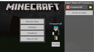 Easy? Minecraft Puzzles By Ck Minecraft Map & Project