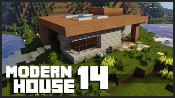 Minecraft - Small  Fantastic Modern House + Download Minecraft Map & Project