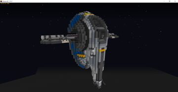 Jango Fett's Slave 1 - Star Wars Minecraft Map & Project