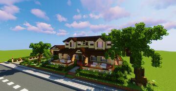 Mediterranean Style Modern Mansion Minecraft Map & Project