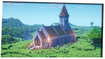 Simple Medieval Church Minecraft Map & Project