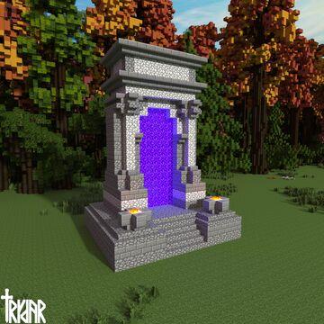 Roman Triumphal Arch Nether Portal +tutorial Minecraft Map & Project