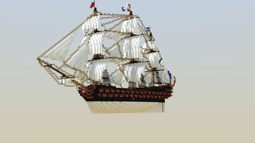 """Third Rate Sail Ship """"Carnival"""" Minecraft Map & Project"""