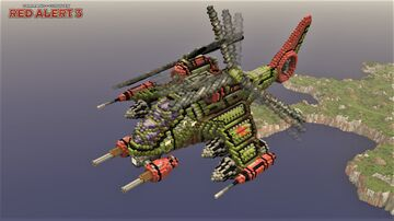 KA-65 Twinblade | C&C Red Alert 3 [1.12] Minecraft Map & Project