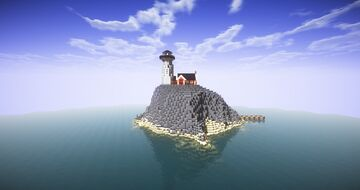 Lighthouse on the Rock (Treasure Hunt Included) Minecraft Map & Project