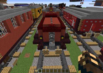 DB V60 Working Piston Engine Minecraft Map & Project