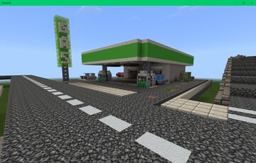 number 14 first street gas station (part of the desolation 2.0 map) Minecraft Map & Project