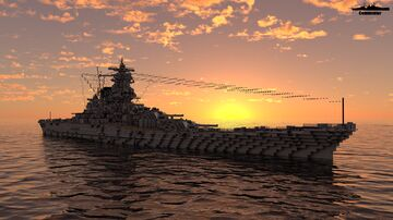 IJN Shikishima 1:1 Scale A-150 Minecraft Map & Project