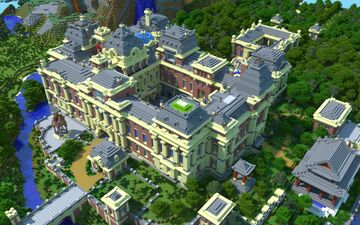 Brick Baroque Palace Minecraft Map & Project