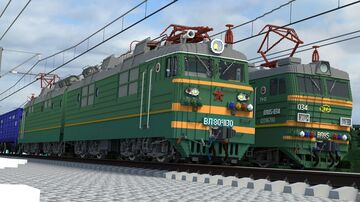 Soviet electric locomotives VL85 and VL65 (remake) and russian EP1 Minecraft Map & Project