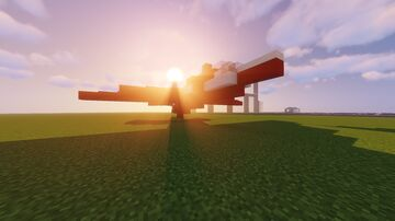 Royal Air Force (RAF) Red Arrows Plane Minecraft Map & Project