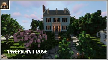 Minecraft Showcase - Amazing American House Minecraft Map & Project