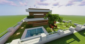 Big 2 floors Moder House Minecraft Map & Project