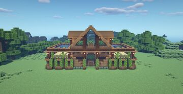 Large Spruce Wooden Survival House Minecraft Map & Project