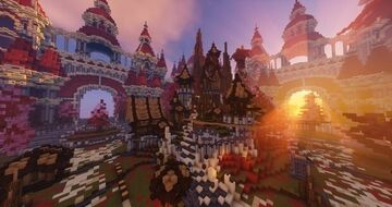 Spawn PvP/Faction + WarZone Minecraft Map & Project