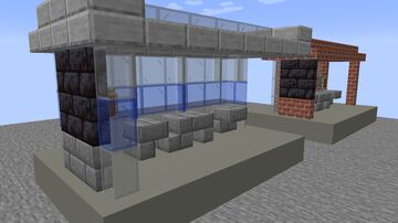 (weird looking) Madrid bus stops. Minecraft Map & Project