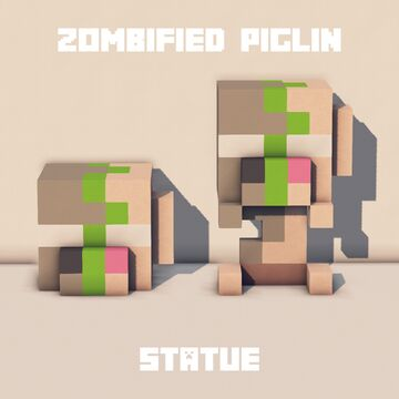Zombified Piglin Plush Statue Minecraft Map & Project